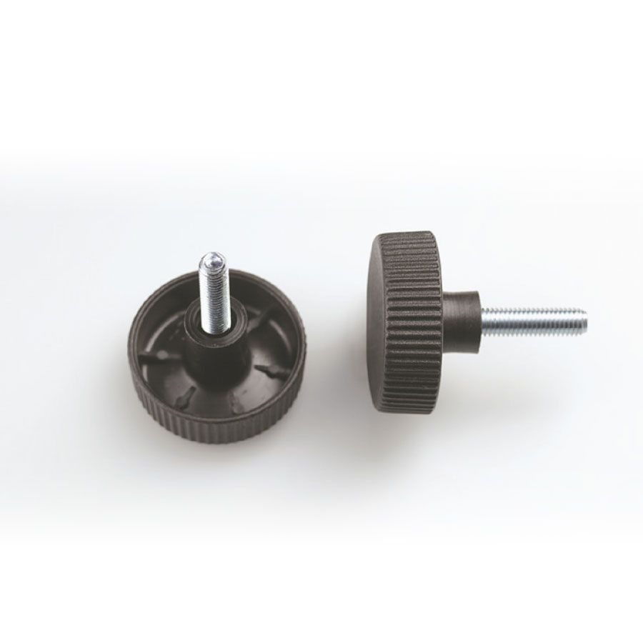 knob flat head with screw insert in fe