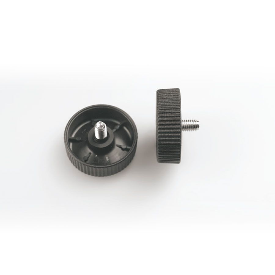 knob flat head with short screw insert in fe